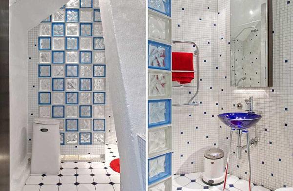 imagen de viveza y color en apartamento de Suecia