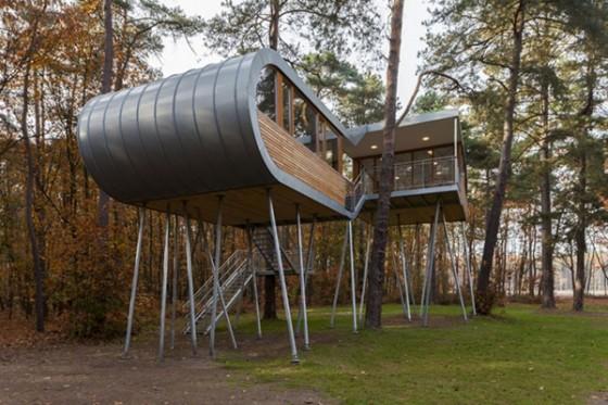 Casa de árbol en Bélgica para adultos (18)