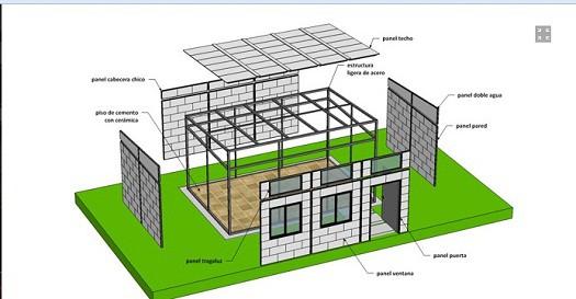 Casas recicladas de plástico de la empresa Kuadro (1)
