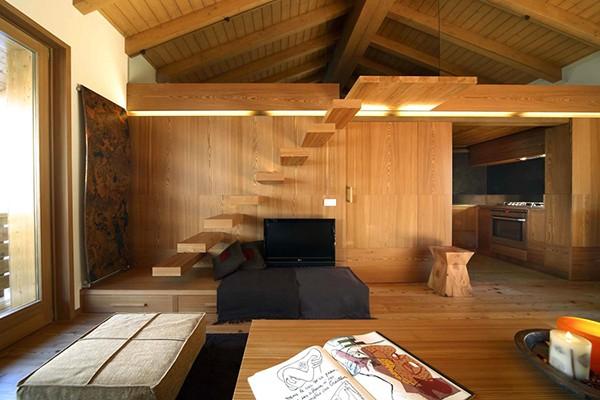 Apartamento con interiores amaderados en Italia (1)