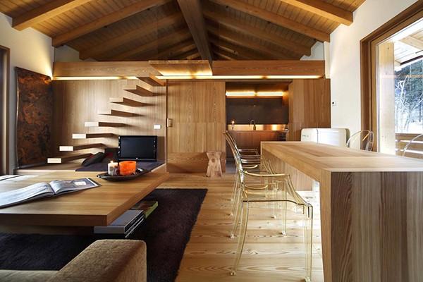 Apartamento con interiores amaderados en Italia (7)