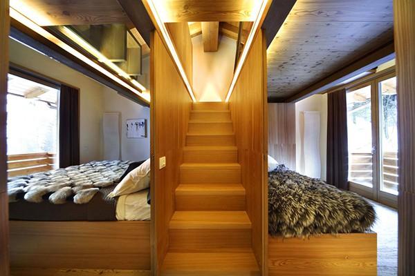 Apartamento con interiores amaderados en Italia (5)