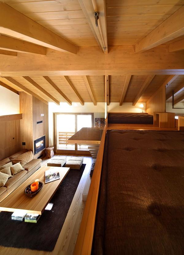 Apartamento con interiores amaderados en Italia (4)