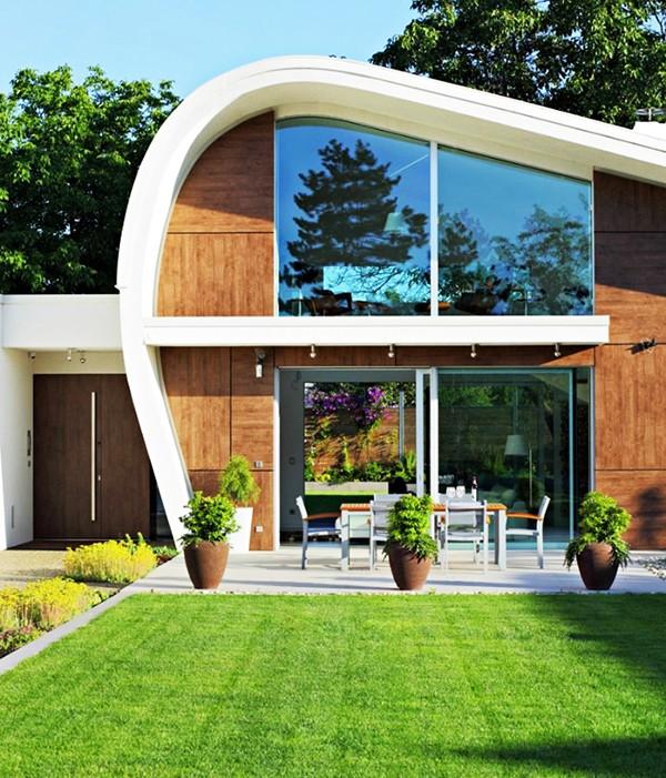 Impresionante casa modular prefabricada de diseño atrevido y moderno
