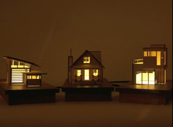 Lámparas decorativas con diseños arquitectónicos