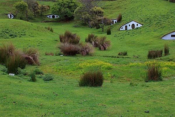 Fachadas de casas bajo la tierra (1)