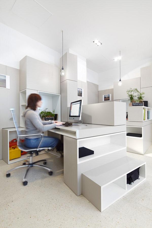 Oficinas modernas con bloques: fáciles de armar y para cualquier necesidad