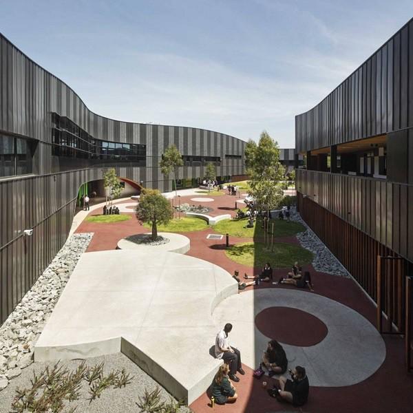 Diseño de interiores didácticos en escuela de gramática en Australia