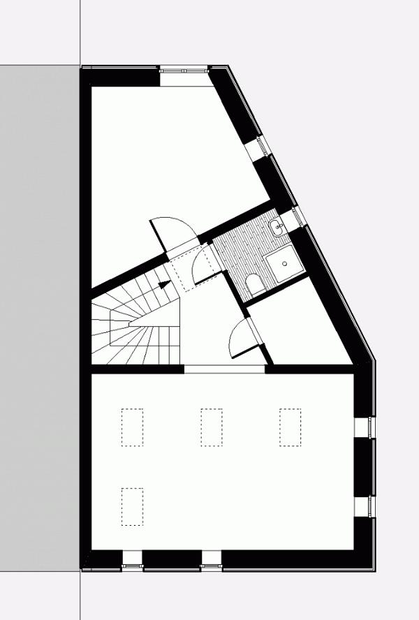 Fachada de casa digitalizada en Berlin
