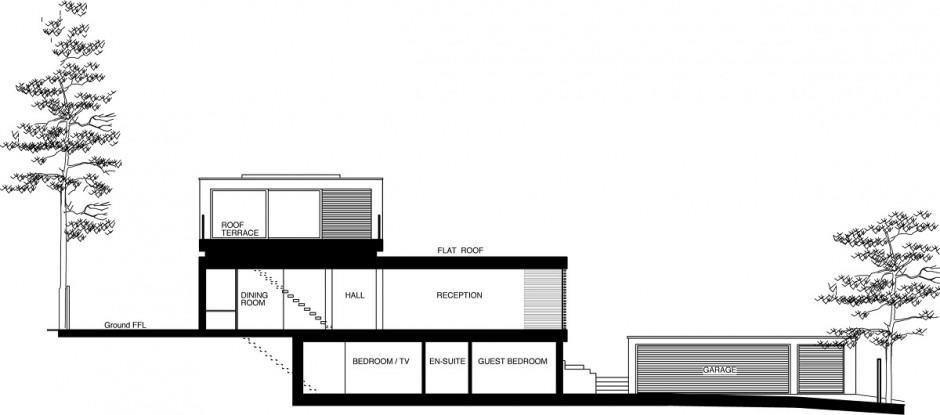 casa moderna fachada y decoracion con sus planos