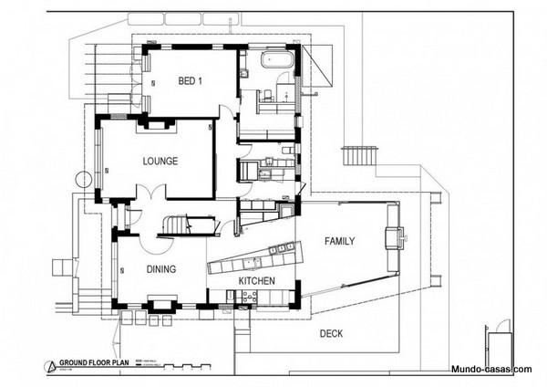 casa moderna fotos de fachada e interiores