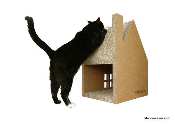 Casa de carton para gatos