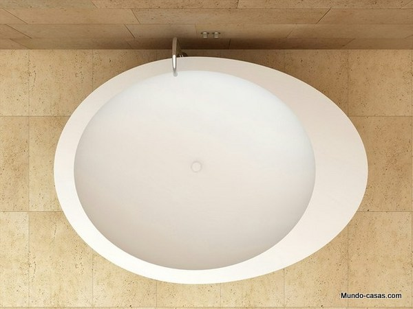 Tina de ceramica con diseño ovalado color blanco por CERAMICACIELO (2)