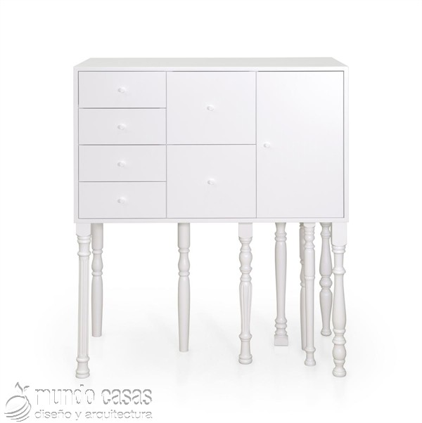 Muebles con estilo clásico pintados con neón (11)