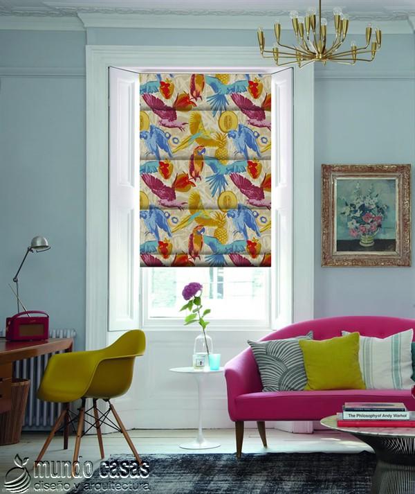 Decoremos nuestras ventanas con cortinas basadas en arte popular de Birmingham West Midlands Guadeloupe-Paradise