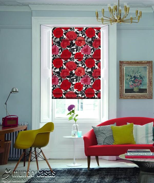Decoremos nuestras ventanas con cortinas basadas en arte popular de Birmingham West Midlands Menton-Poppy