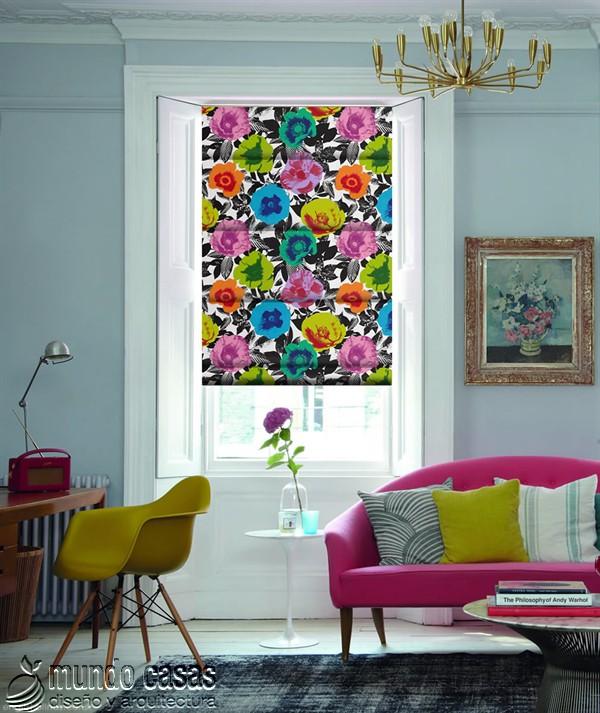 Decoremos nuestras ventanas con cortinas basadas en arte popular de Birmingham West Midlands Menton-Tropical