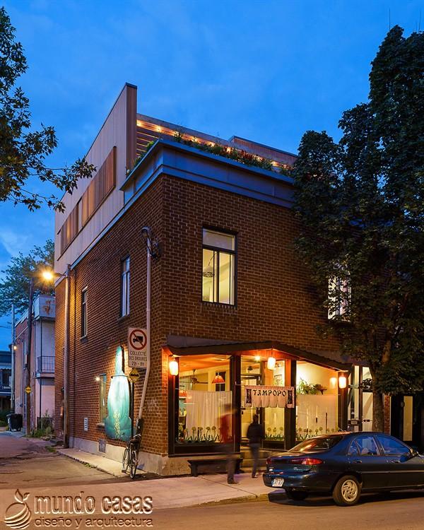 Moderna adición duplex en apartamento de Montreal (16)