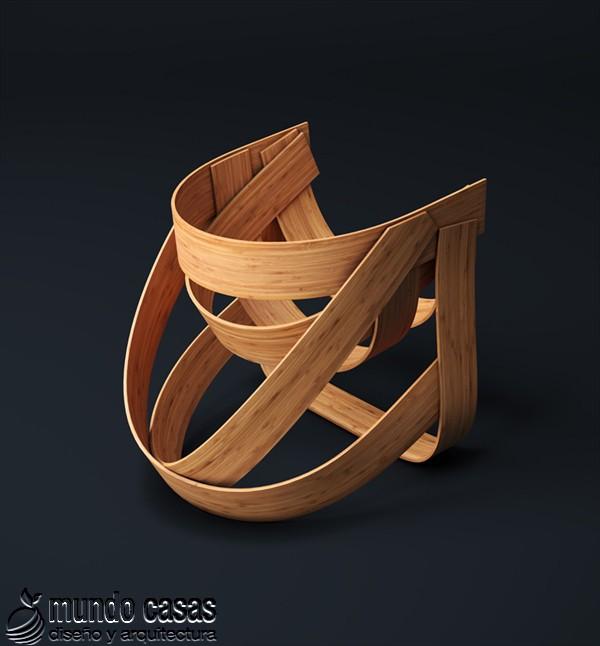 Sillas de diseñadores holandeses hechas con bambú (3)
