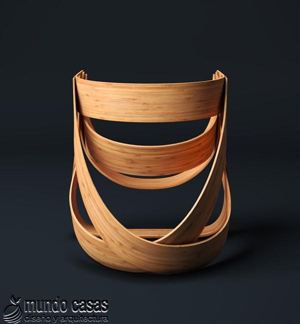 Sillas de diseñadores holandeses hechas con bambú (7)