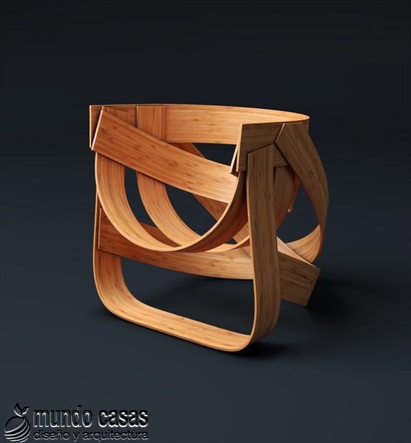 Sillas de diseñadores holandeses hechas con bambú (8)