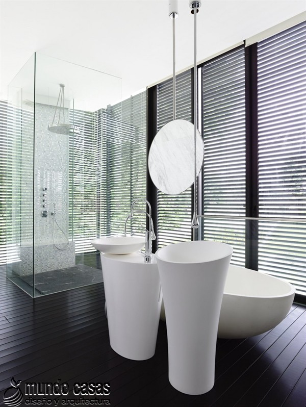 Terrenos ondulados base de una casa moderna maravillosa en Singapur (15)