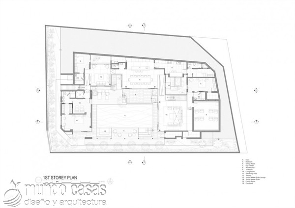 Terrenos ondulados base de una casa moderna maravillosa en Singapur (16)