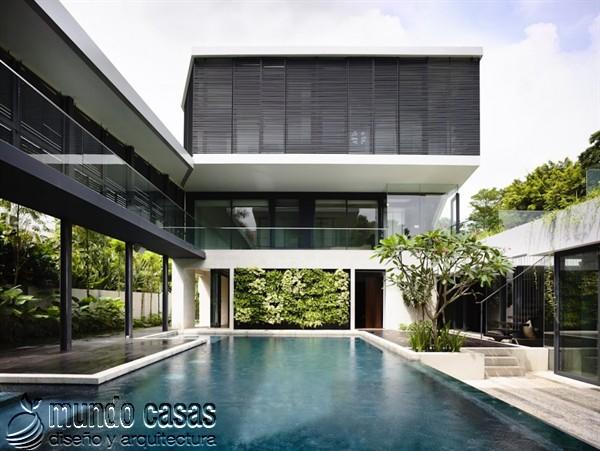Terrenos ondulados base de una casa moderna maravillosa en Singapur (9)
