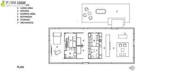 casa de campo moderna y cabaña un piso con amplios ventanales