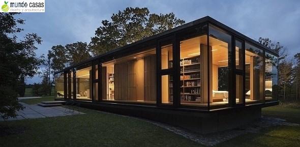 Cabaña moderna y minimalista con aire de retiro y tranquilidad