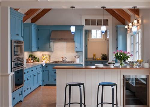 Cocinas totalmente azules