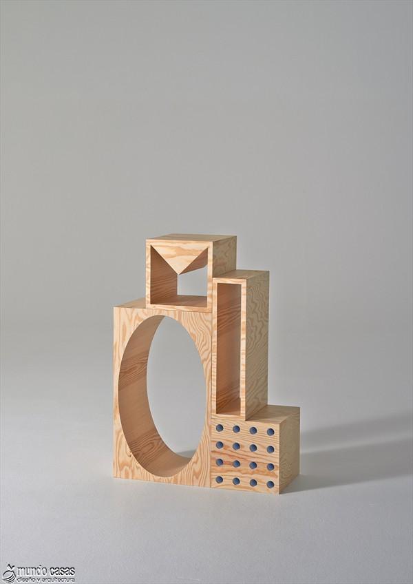 Estantería armable y desarmable con acabados en plywood de origen sueco (2)