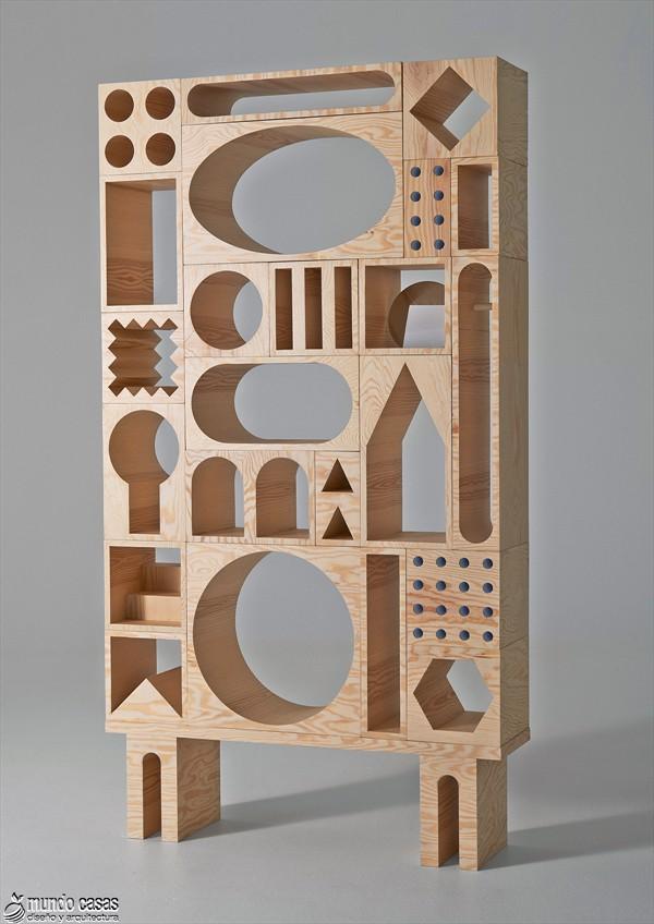 Estantería armable y desarmable con acabados en plywood de origen sueco (3)