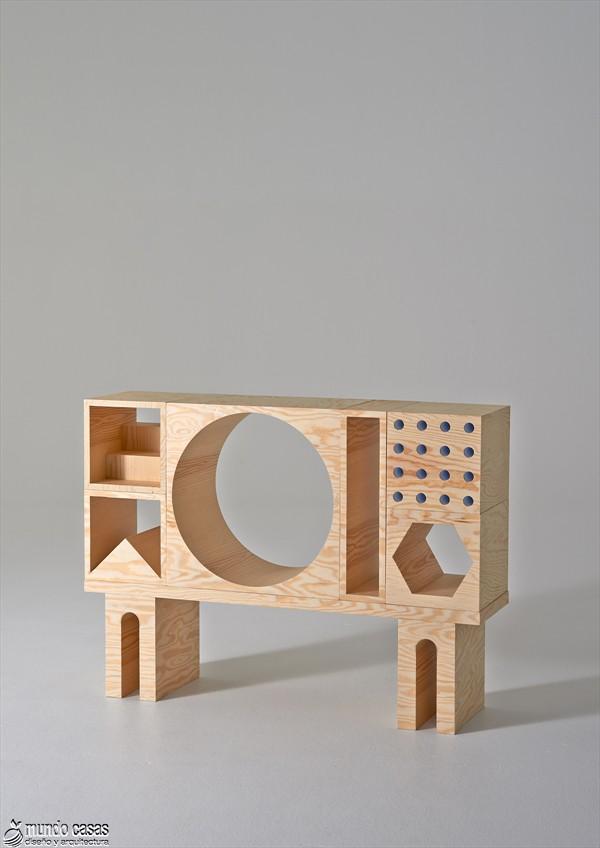 Estantería armable y desarmable con acabados en plywood de origen sueco (6)
