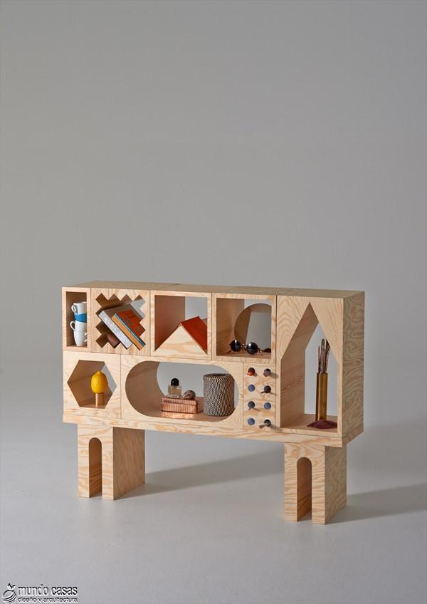 Estantería armable y desarmable con acabados en plywood de origen sueco (7)