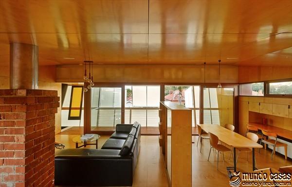 Interiores cocina y sala en la Casa 31_4 Room House (4)
