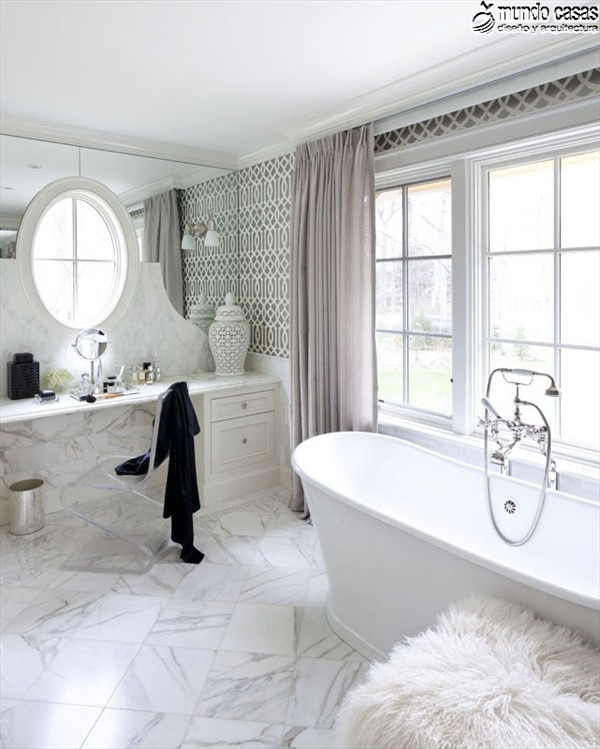 Moderniza tu privacidad con estas 27 ideas y diseños de decoración de baños (1)