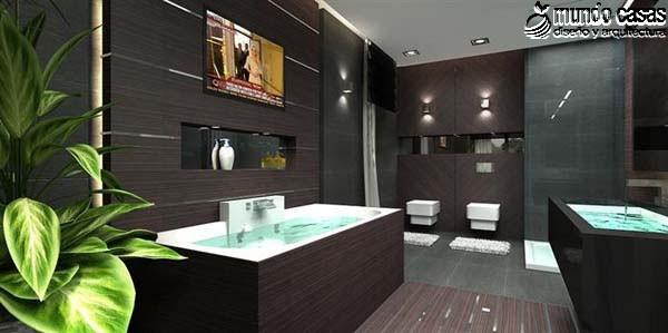 Moderniza tu privacidad con estas 27 ideas y diseños de decoración de baños (10)