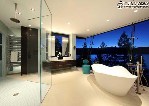 Moderniza tu privacidad con estas 27 ideas y diseños de decoración de baños (11)