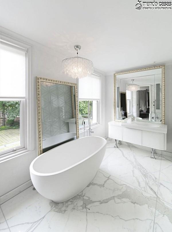 Moderniza tu privacidad con estas 27 ideas y diseños de decoración de baños (18)