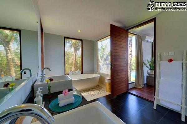 Moderniza tu privacidad con estas 27 ideas y diseños de decoración de baños (19)