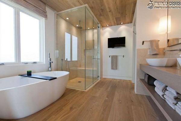 Moderniza tu privacidad con estas 27 ideas y diseños de decoración de baños (20)