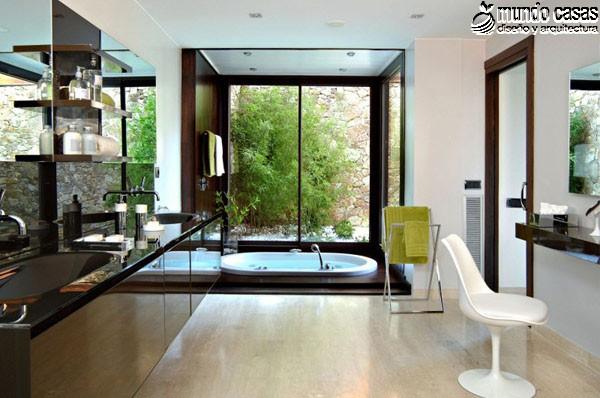Moderniza tu privacidad con estas 27 ideas y diseños de decoración de baños (21)