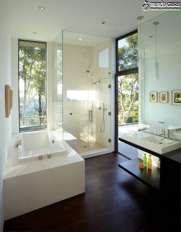 Moderniza tu privacidad con estas 27 ideas y diseños de decoración de baños (24)