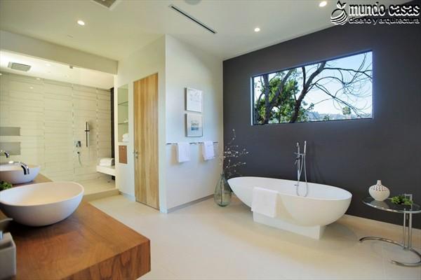 Moderniza tu privacidad con estas 27 ideas y diseños de decoración de baños (25)