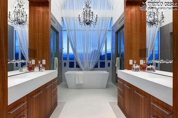 Moderniza tu privacidad con estas 27 ideas y diseños de decoración de baños (27)