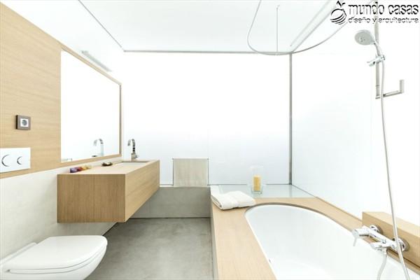 Moderniza tu privacidad con estas 27 ideas y diseños de decoración de baños (4)