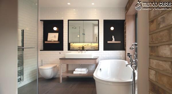 Moderniza tu privacidad con estas 27 ideas y diseños de decoración de baños (5)