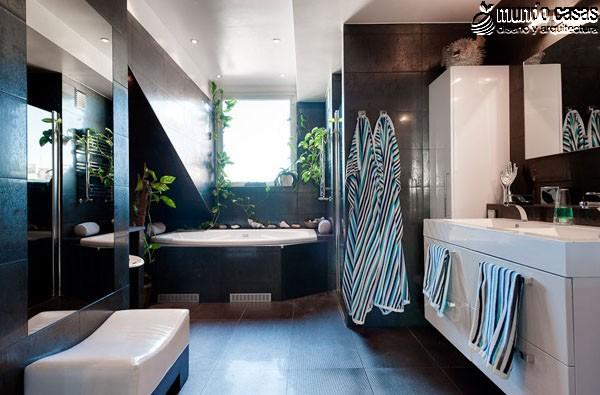 Moderniza tu privacidad con estas 27 ideas y diseños de decoración de baños (6)