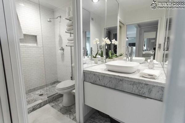Moderniza tu privacidad con estas 27 ideas y diseños de decoración de baños (7)